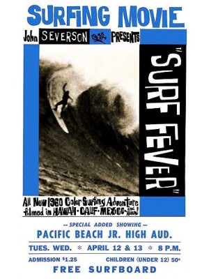 Affiche de Film JOHN SEVERSON 'Surf Fever' Blue Edition