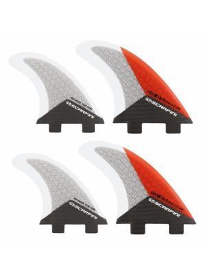 Set de 4 dérives SCARFINI HX2.5 Quad Carbon (taille M) (FCS)