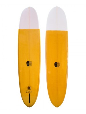 Longboard WILDE SHAPES - Admiral Bell Pin 9'2 - White / Mustard (PU)