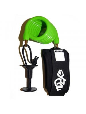 Leash biceps Bodyboard GYROLL Variables - Citron Vert