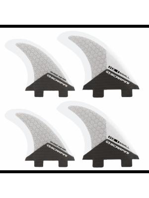 Set de 4 dérives SCARFINI HX1 Quad Carbon (taille S) (FCS)