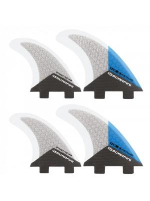 Set de 4 dérives SCARFINI HX2 Quad Carbon (taille M) (FCS)
