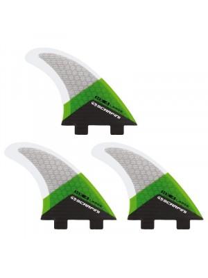 Set de 3 dérives SCARFINI HX4 Carbon (taille L) (FCS)