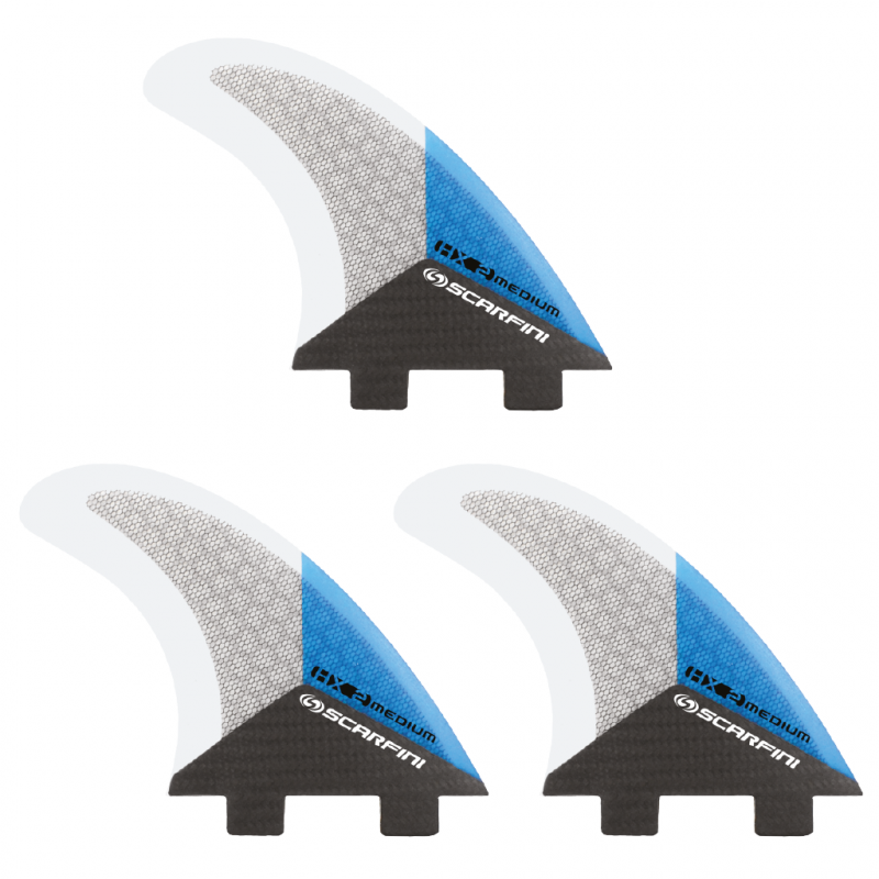 Set de 3 dérives SCARFINI HX2 Carbon (taille M) (FCS)