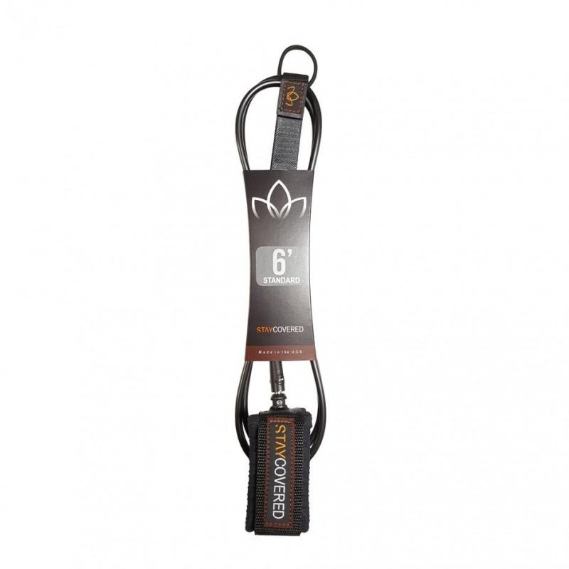Leash genou Longboard / Sup STAY COVERED Standard Calf (7mm) - Black