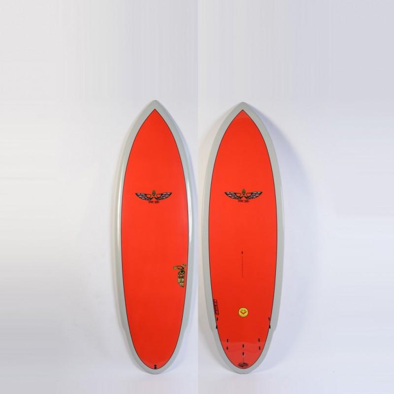 Planche de Surf BOARDWORKS Von Sol Shadow grey/red (epoxy)