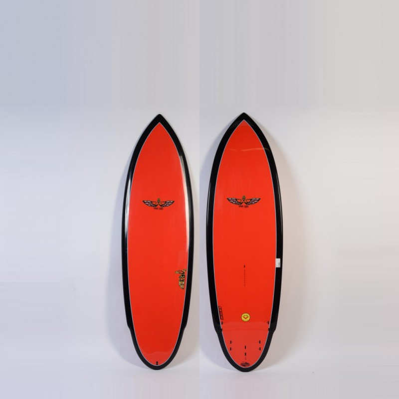 Planche de Surf BOARDWORKS Von Sol Shadow red/black (epoxy)