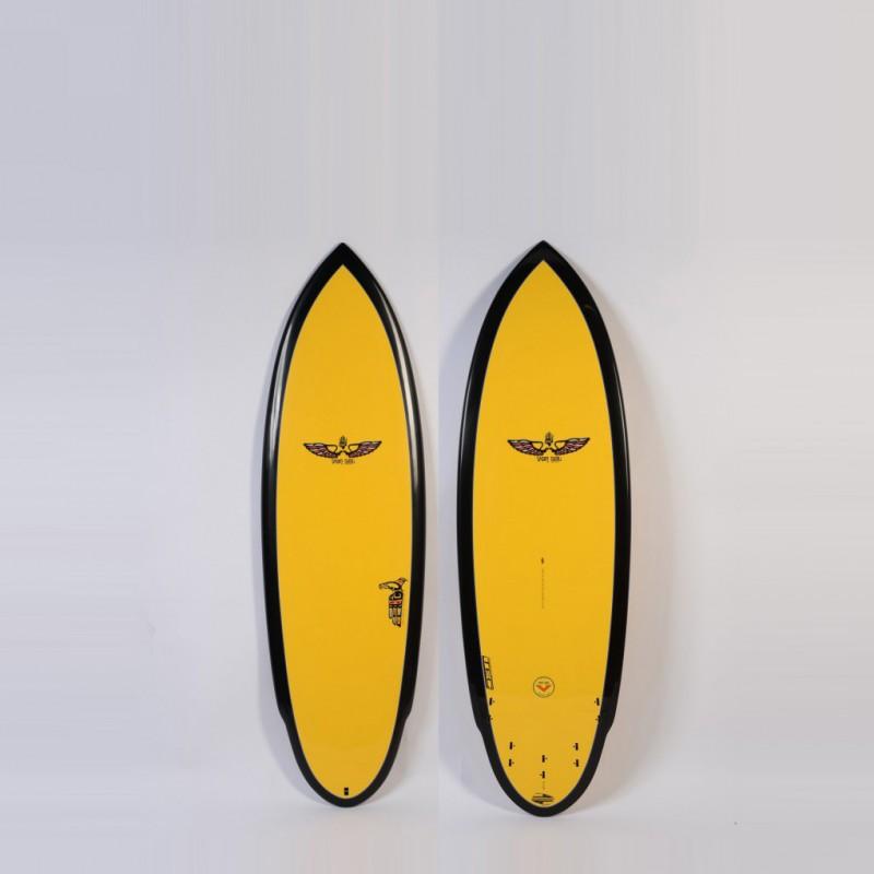 Planche de Surf BOARDWORKS Von Sol Shadow yellow/black (epoxy)