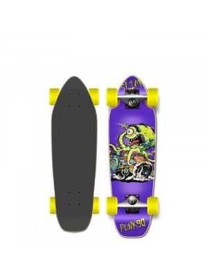 Skateboard Cruiser YOCAHER Punked Hot Rod Slim 27' (69 cm)