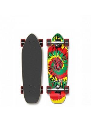 Skateboard Cruiser YOCAHER Punked Tiedye Rasta 27' (69 cm)
