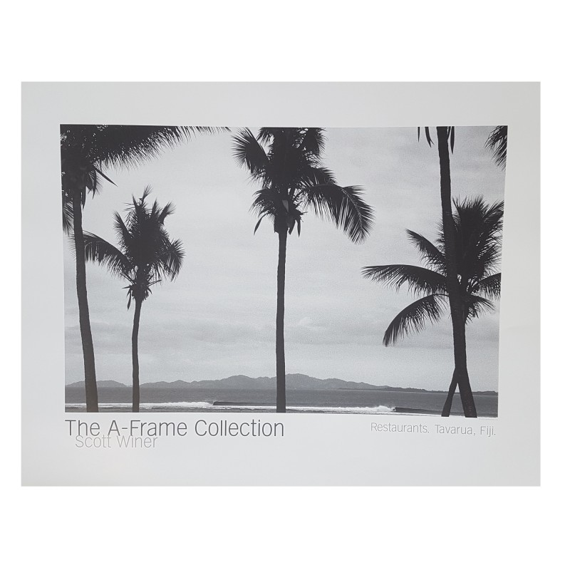 "Poster Photo Surf A-FRAME COLLECTION Scott winer ""Restaurants. Tavarua, Fiji"""