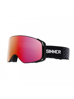Sinner - Masque Snow Olympia - Mat Black / Orange Mirror