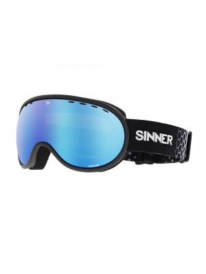 Sinner - Masque Snow Vorlage - Mat Black / Blue Oil