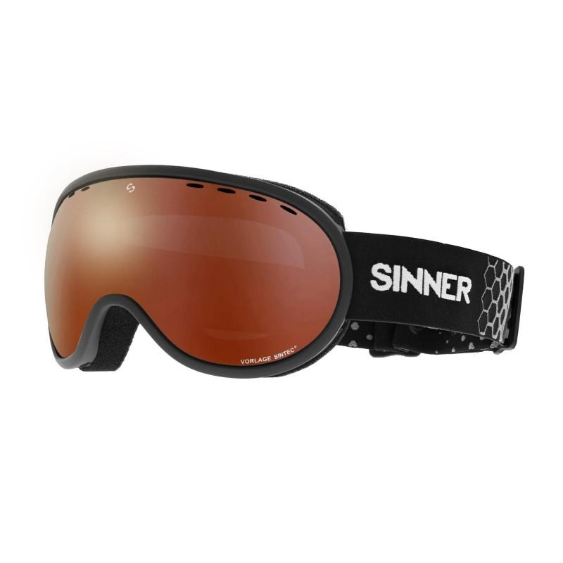Sinner - Masque Snow Vorlage - Mat Black / Blue Oil