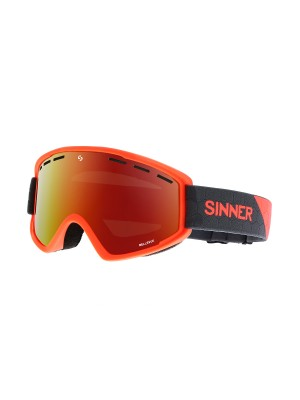 Sinner - Masque Snow Bellevue - Neon Orange / Red Oil
