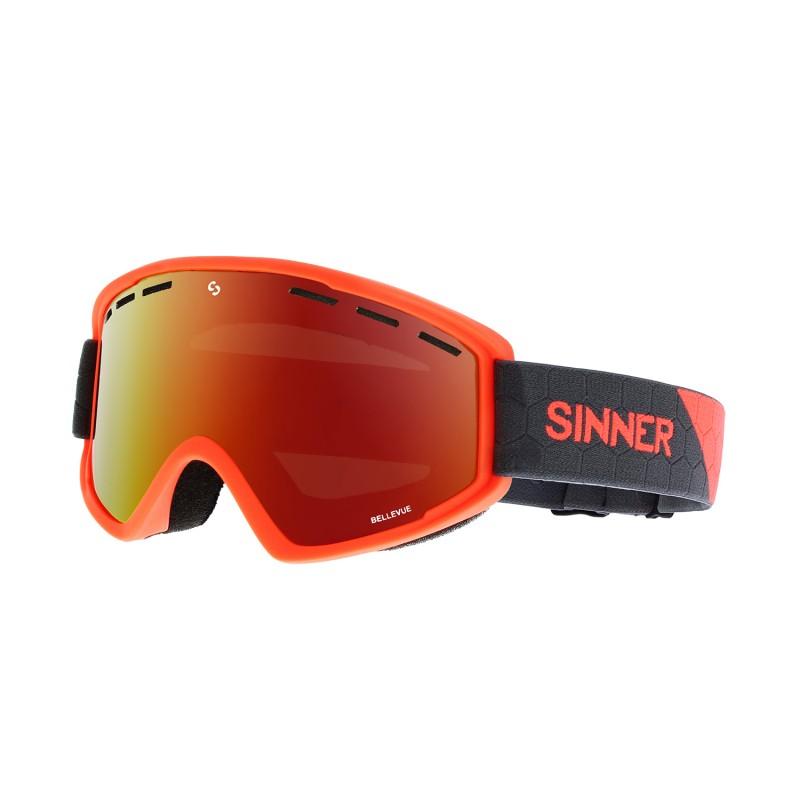 Sinner - Masque Snow Bellevue - Neon Orange / Red Oil